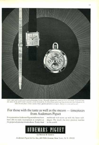 Audemars Piguet Ladies Watch Men Pocket Watch (1966)