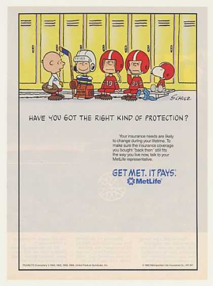 Charlie Brown Peanuts Football Met Life Ins (1994)