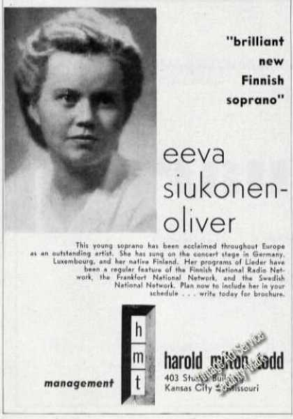 Eeva Siukonen-oliver Photo Finnish Soprano (1950)