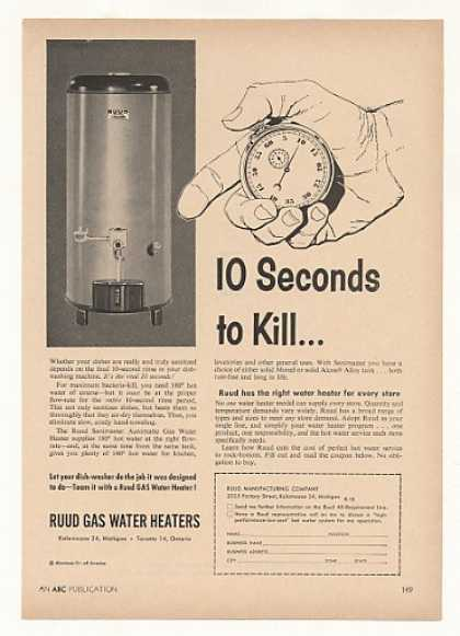 Ruud Sanimaster Gas Water Heater Store Trade (1956)