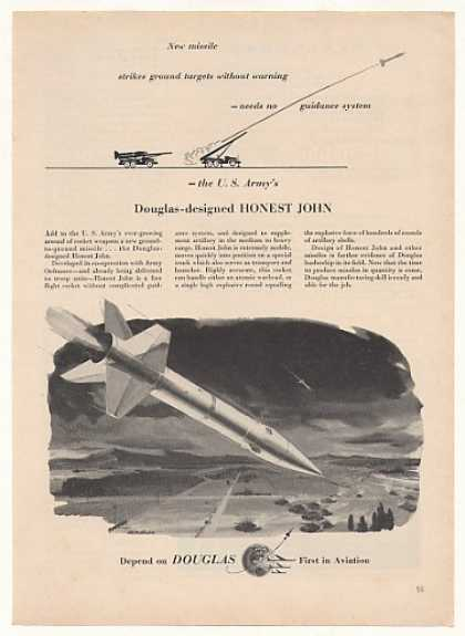 US Army Douglas Honest John Rocket (1955)