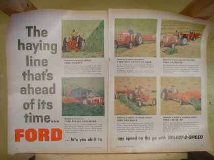 Ford mowers and harvesters. The haying line that's ahead of its time (1959)