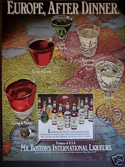 Mr. Boston International Liqueurs Map (1978)