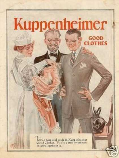 Kuppenheimer Clothes Color Ad Leyendecker Art (1923)