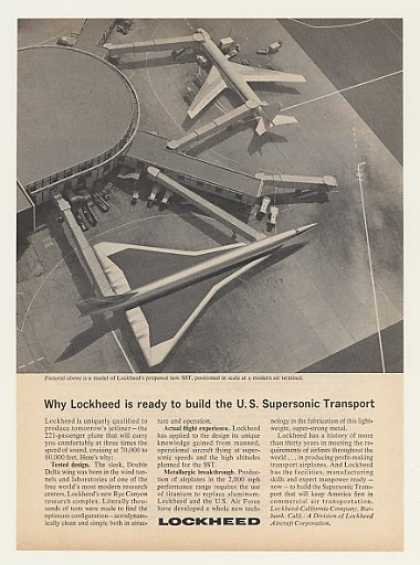 Lockheed SST Aircraft Model (1964)