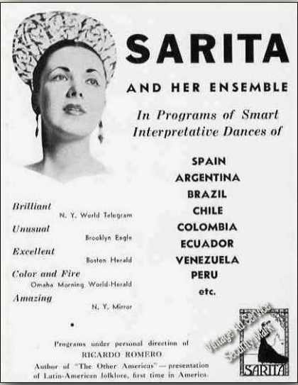 Sarita and Her Ensemble Latin-american Dances (1939)