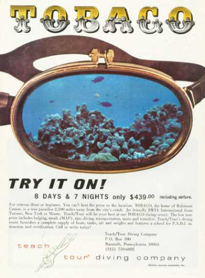 Tobaco Teach Tour Diving Company Scuba (1976)