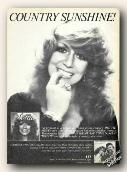Dottie West Photo Advertising Album Promo Music (1978)