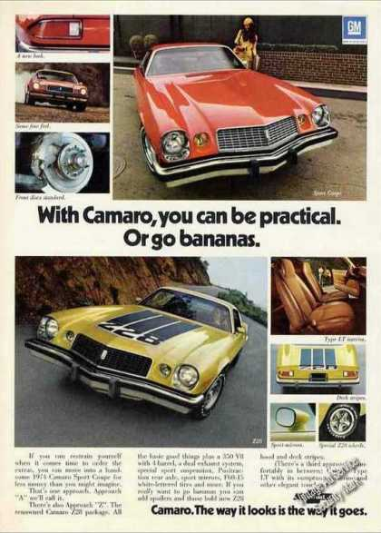 "Chevrolet Camaro ""Practical or Go Bananas"" Car (1974)"