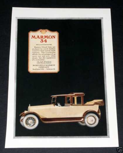 Marmon 34, Advanced Engineerin (1918)