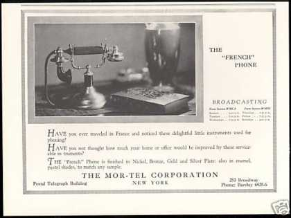 Mor-Tel Corporation The French Phone (1927)