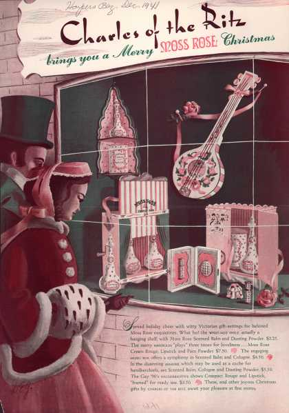 Charles of the Ritz's Moss Rose Beauty Products – Charles of the Ritz brings you a Merry Moss Rose Christmas (1941)