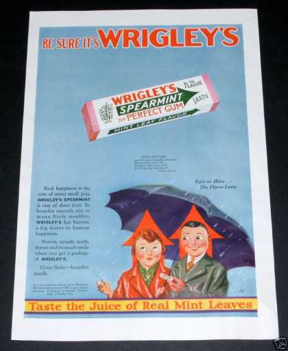 Wrigley's Spearmint Chewing Gum (1929)