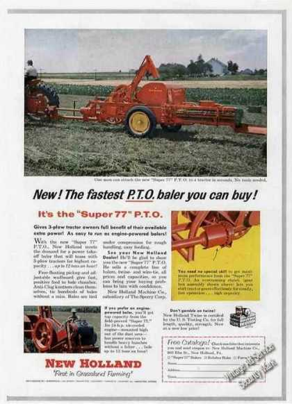 "New Holland ""Super 77"" Fastest Pto Baler (1955)"