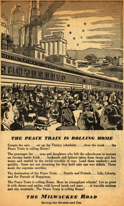 Milwaukee Road's Peace Train – The Peace Train Is Rolling Home (1945)