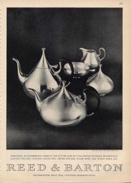 Reed & Barton Silver Plate Tea Service Photo (1964)