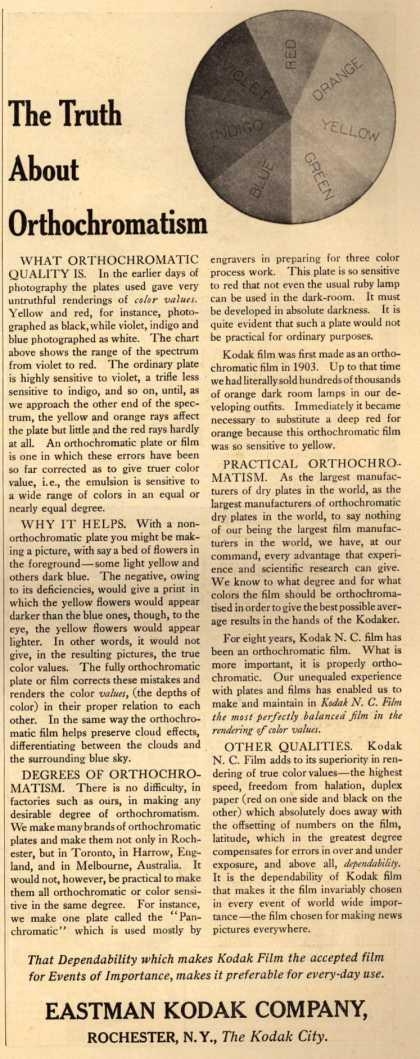 Kodak – The Truth About Orthochromatism (1911)