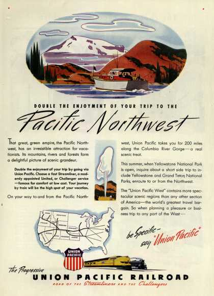 Union Pacific Railroad's Vacation/Business Travel – Double the enjoyment of your trip to the Pacific Northwest (1946)
