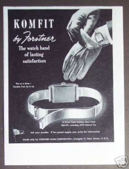 Komfit Watch Band By Forstner (1945)