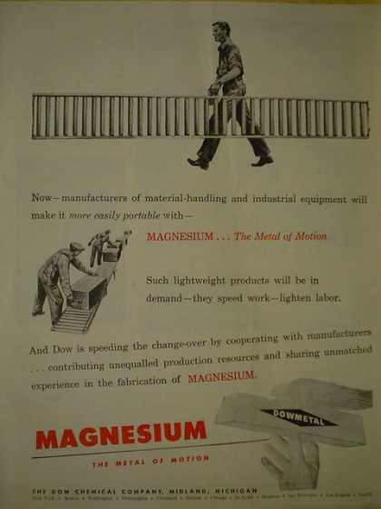 Dowmetal Magnesium The metal of motion (1945)