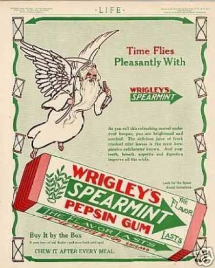 Wrigley&#8217;s Spearmint Pepsin Gum Color (1913)