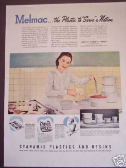 Melmac Institutional Kitchenware Trade (1945)