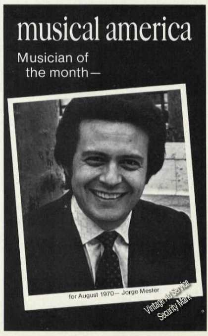 Jorge Mester Musician of Month Print Feature (1971)