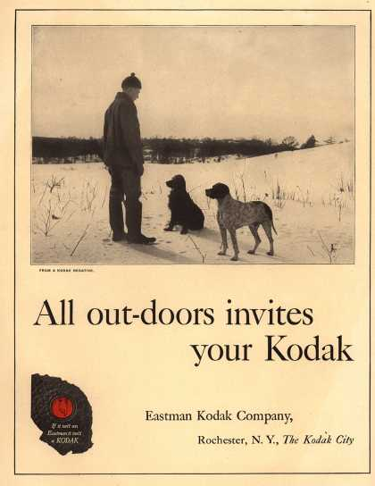 Kodak – All out-doors invites your Kodak (1920)