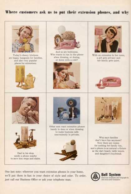 Bell System Telephone Princess Rotarydial (1965)