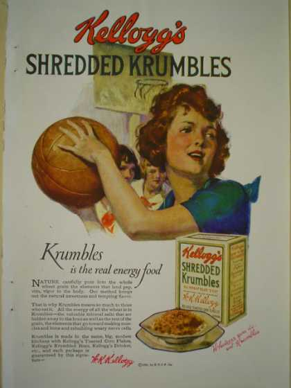 Kellogg's Shredded Crumbles Cereal AND Standard Eight A powerful Car Standard Steel car Co (1920)