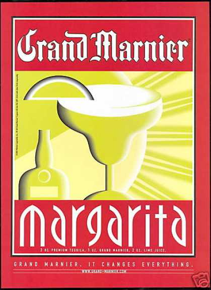 Grand Marnier Liqueur Margarita Drink Bottle (2001)