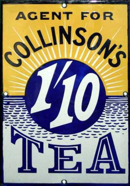 Collinson's 1'10 Tea Sign