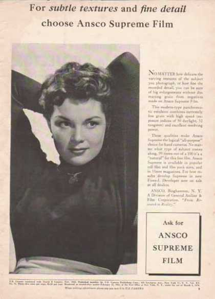ANSCO Film – For subtle textures and fine detail... (1952)