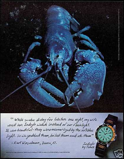 Timex Indiglo Watch Lobster Scuba Diving (1995)