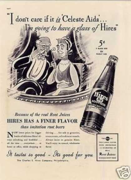 "Hires Root Beer Ad ""I Don't Care If... (1937)"