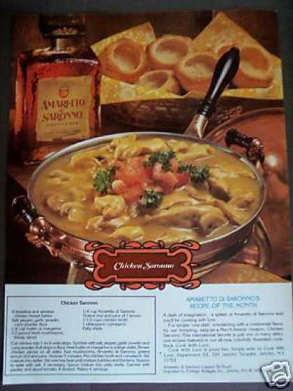 Chicken Sarrono Recipe Amaretto Liqueur Photo (1979)