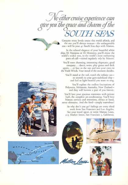 Matson Lines Cruise South Seas (1963)