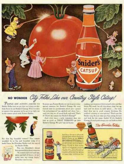 Snider's Catsup City Folks Like Country Style (1943)