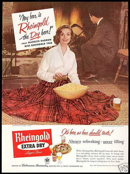 Miss Rheingold Beer Miss Darrow Photo Popcorn (1958)