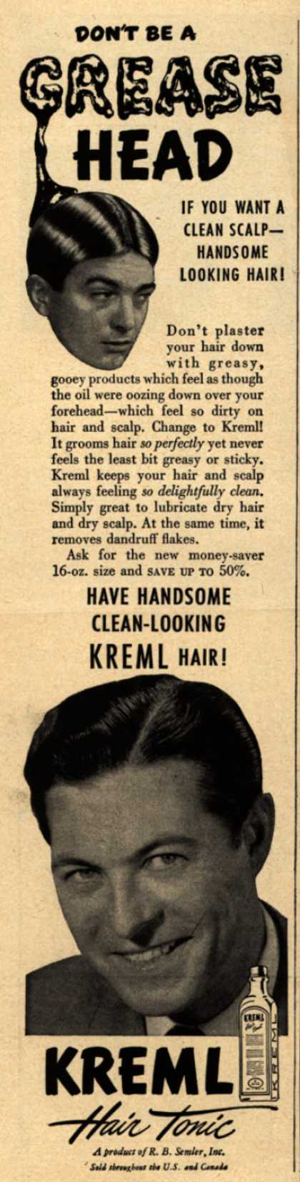 "Kreml's hair tonic – ""Not on my Sofa"" (1944)"