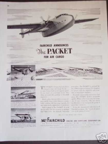 Fairchild Twin-engine Cargo Plane Airplane (1945)