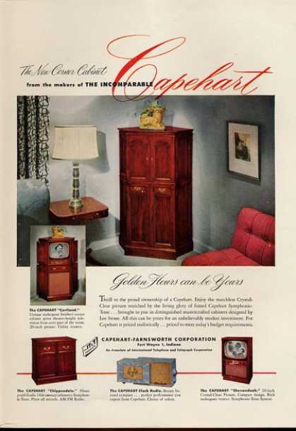 Capehart Farnsworth Tv Cortoland Clock (1951)