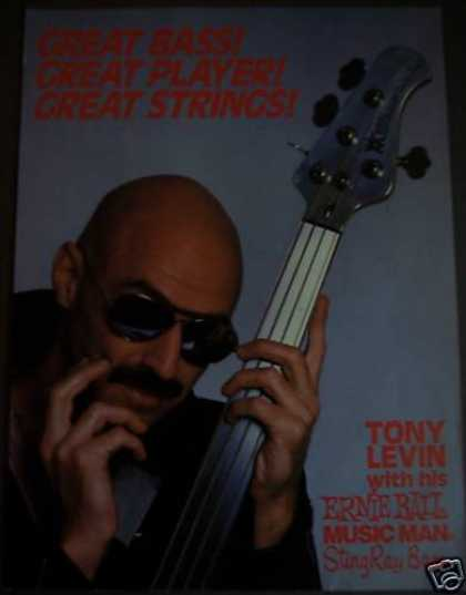 Tony Levin Ernie Ball Stingray Bass Guitar (1988)