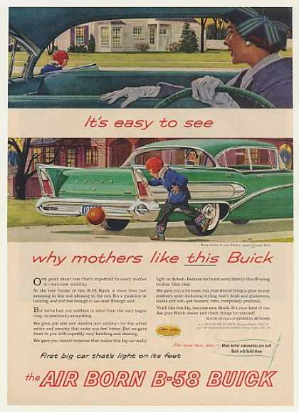 Buick B-58 Mothers Like Rear View Visibility (1958)