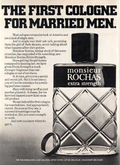 "Monsieur Rocha's ""The first cologne for Married Men"" (1971)"