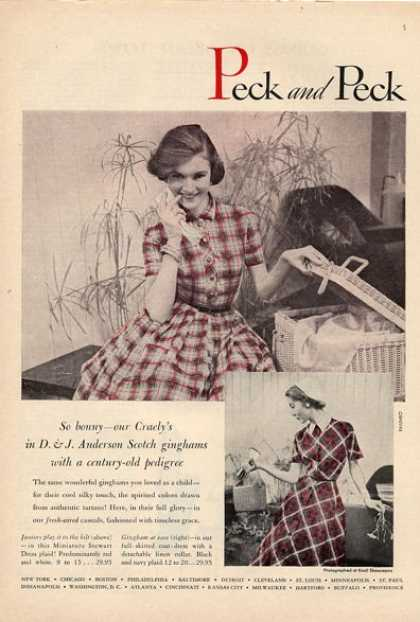 Peck Anderson Scotch Gingham Fashion (1953)
