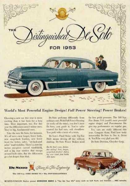 "Desoto ""Famous for Fine Engineering"" (1953)"