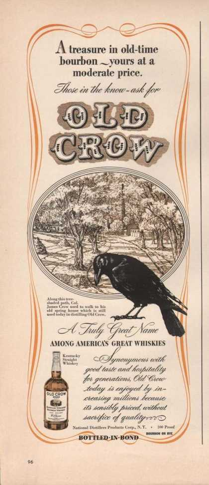 Those In the Know Ask for Old Crow Whisky (1942)