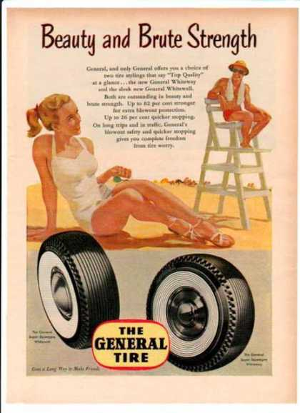 General Tire – Beach Beauty and Brute Strength (1952)