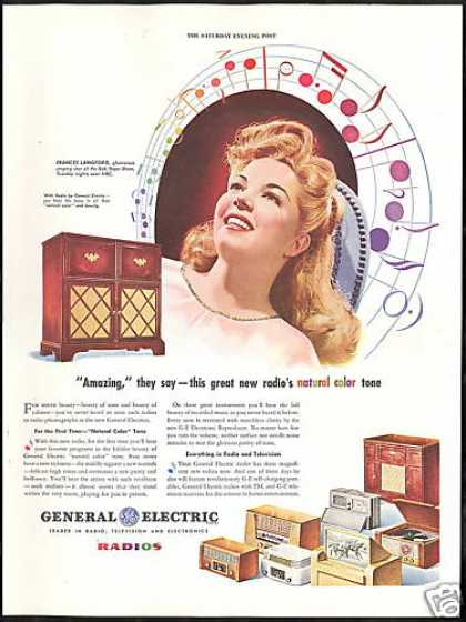 Frances Langford GE General Electric Radio (1946)